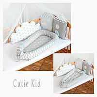 Двусторонний кокон-гнездышко для новорожденных, детская кроватка, К-02, фото 1