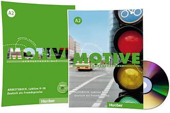 Немецкий язык / Motive / Kursbuch+Arbeitsbuch+CD. Учебник+тетрадь (9-18) комплект с диском, A2 / Hueber