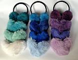 Хутряні навушники Зимові кролик Темний М'ятний колір, фото 4