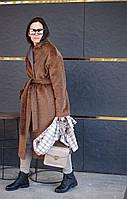 Женское зимнее пальто из шерсти, женское утепленное пальто с длинным ворсом