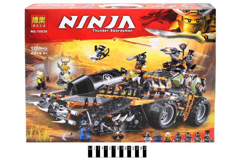 Конструктор Ninja: боевой танк, 1230 дет Ниньдзяго
