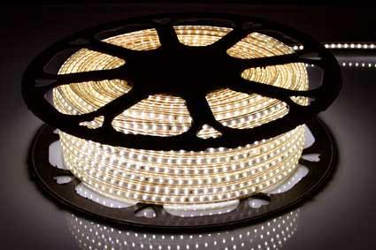 Лента светодиодная 2835-120-IP65-WW-12-220