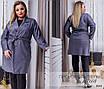 Пальто без подкладки на запах замша 48-50,52-54,56-58, фото 4