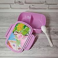 Ланч-бокс для обедов детский. Десткий ланчбокс с ложкой