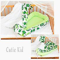 Двустороннее гнездышко-кокон для новорожденных, детская кроватка, К-02, фото 1