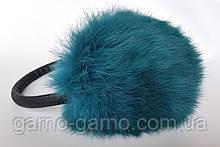 Наушники меховые Зимние кролик Морская Волна цвет