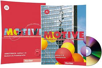 Немецкий язык / Motive / Kursbuch+Arbeitsbuch+CD. Учебник+тетрадь (1-8) комплект с диском, A1 / Hueber