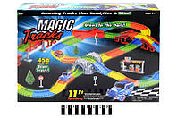 Автотрек светящийся - Magic Tracks Mega Set, 18 ft Speedway (458 деталей)