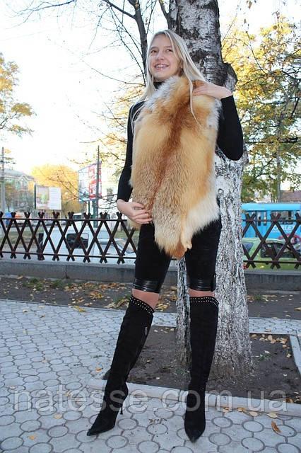 Мех рыжей лисы (шкурки выделанные) неокрашенный, без седины, отборный. Заказ от 2 штук.