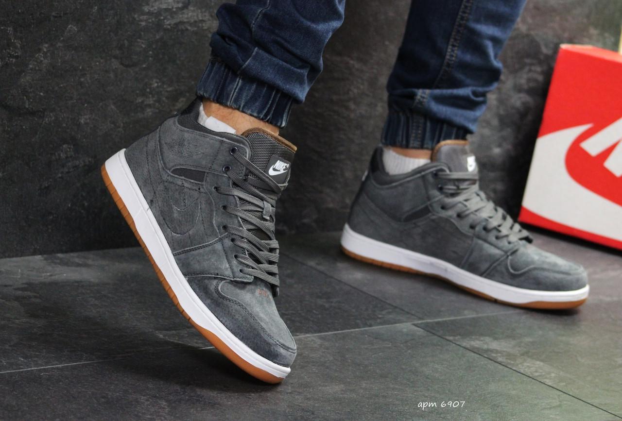 db0a64d0 Высокие зимние кроссовки Nike Jordan,замшевые,серые: продажа, цена в ...
