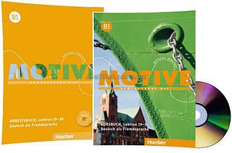 Немецкий язык / Motive / Kursbuch+Arbeitsbuch+CD. Учебник+тетрадь (19-30) комплект с диском, B1 / Hueber