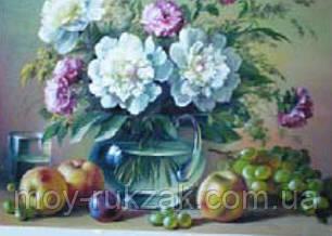 """Картина по номерам """"Натюрморт с цветами"""" 40*50см, фото 2"""
