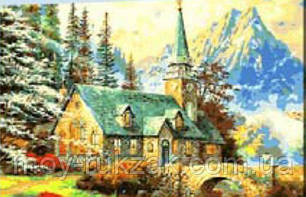 "Картина по номерам ""Домик в горах"" 40*50см, фото 2"
