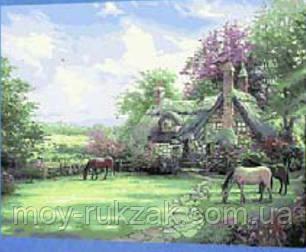 """Картина по номерам """"Домик с лошадями"""" 40*50см, фото 2"""