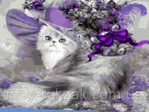 "Картина по номерам ""Кошечка в шляпе"" 40*50см, фото 2"