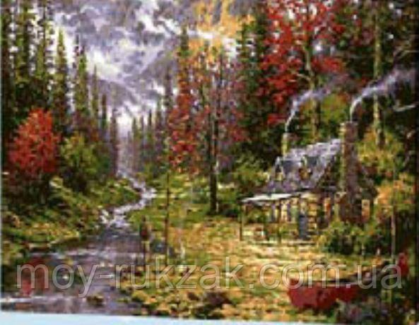 "Картина по номерам ""Домик в лесу"" 40*50см"