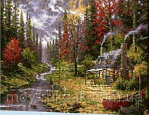 "Картина по номерам ""Домик в лесу"" 40*50см, фото 2"