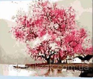 "Картина по номерам ""Цветущее дерево"" 40*50см, фото 2"