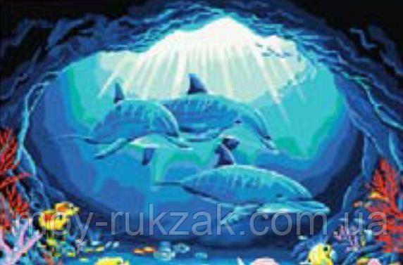 """Картина по номерам """"Дельфины"""" 40*50см"""