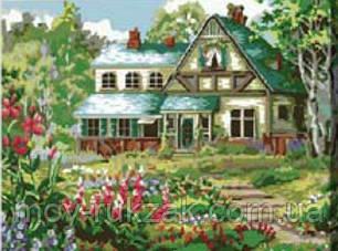 """Картина по номерам """"Загородный домик"""" 40*50см, фото 2"""