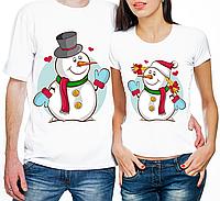 """Парные футболки """"Снеговики"""" (частичная, или полная предоплата)"""