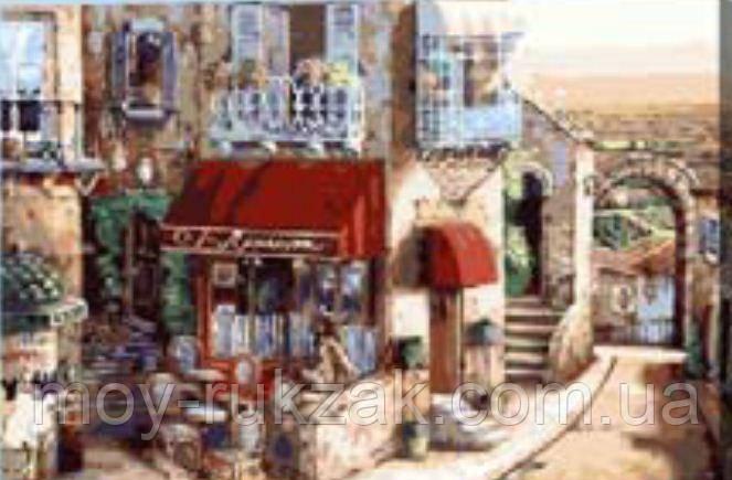 "Картина по номерам ""Кафе в старом городе"" 40*50см"