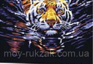 "Картина по номерам ""Плывущий тигр"" 40*50см, фото 2"