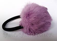Наушники меховые Зимние кролик Светло-Розовый  цвет