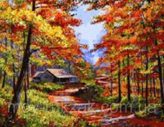 """Картина по номерам """"Осень в лесу"""" 40*50см"""