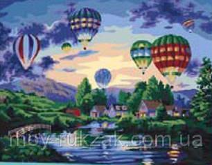 """Картина по номерам """"Воздушные шары"""" 40*50см, фото 2"""