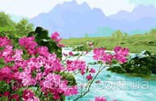 "Картина по номерам ""Горная река"" 40*50см, фото 2"