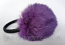 Наушники меховые Зимние кролик Сиреневый  цвет