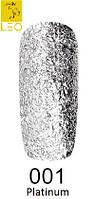 Гель-лак Leo Platinum №1    (блестки серебро)