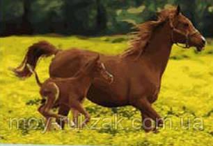 """Картина по номерам """"Лошадки"""" 40*50см, фото 2"""