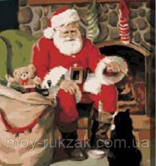 """Картина по номерам """"Санта Клаус"""" 40*50см, фото 2"""