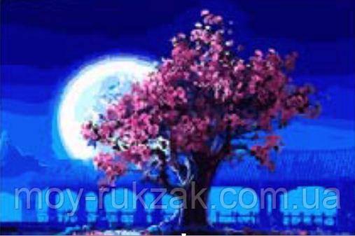 """Картина по номерам """"Дерево в лунном свете"""" 40*50см"""