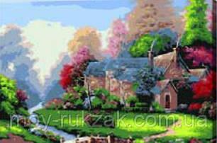 """Картина по номерам """"Домик с лужайкой"""" 40*50см, фото 2"""