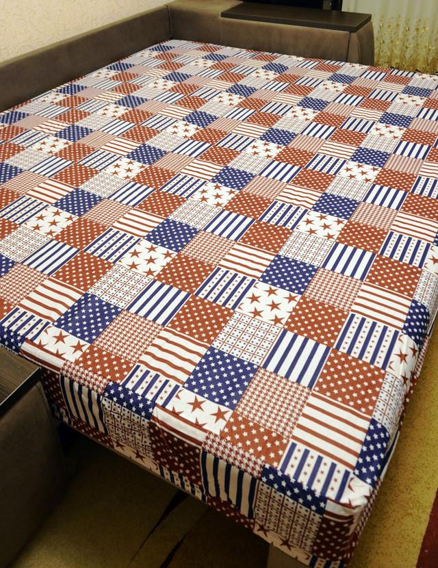 Простынь на резинке 160х200 см «Флаги» in Luxury™ арт.32034