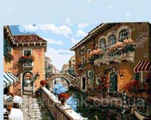 """Картина по номерам """"Венеция в цветах"""" 40*50см, фото 2"""