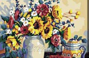 "Картина по номерам ""Букет в вазе"" 40*50см, фото 2"