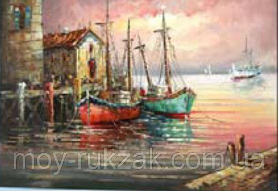 """Картина по номерам """"Лодки"""" 40*50см"""