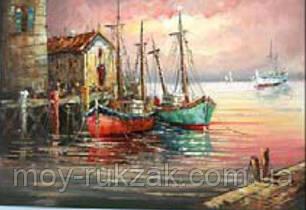 """Картина по номерам """"Лодки"""" 40*50см, фото 2"""