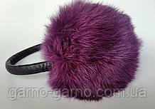 Наушники меховые Зимние кролик Фиолетовый  цвет