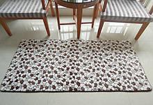 Плюшевый коврик «Камешки»  кофе 40×120 см
