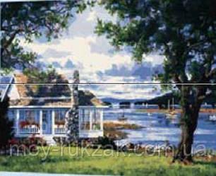 """Картина по номерам """"Дом у реки"""" 40*50см, фото 2"""