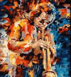 """Картина по номерам """"Саксофонист"""" 40*50см, фото 2"""