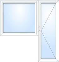 Балконный блок Rehau Ecosol 70