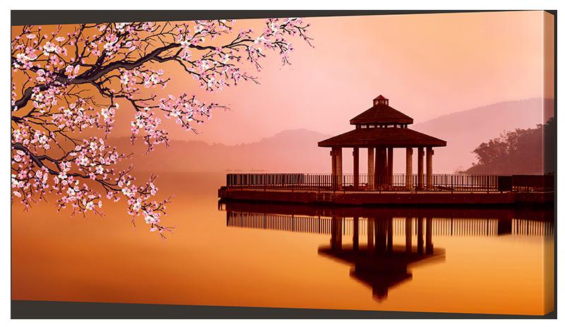 Картина Interno Эко кожа  Озеро на закате 120х69см (A2027XL)