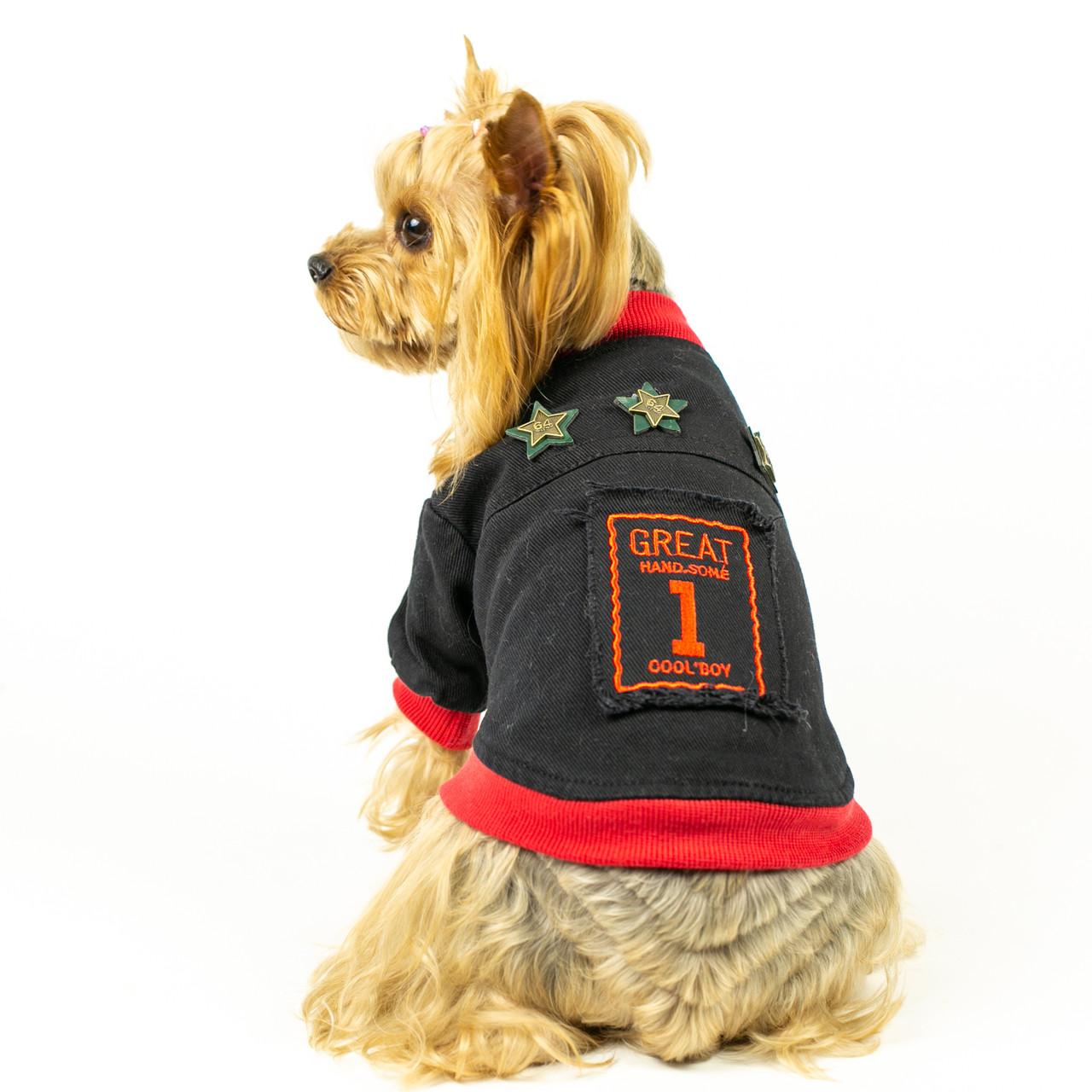 """Трикотажная куртка """"Cool boy"""" для собак"""