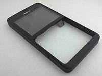 Корпус Nokia Asha 210 Dual лицевая панель Black, оригинал